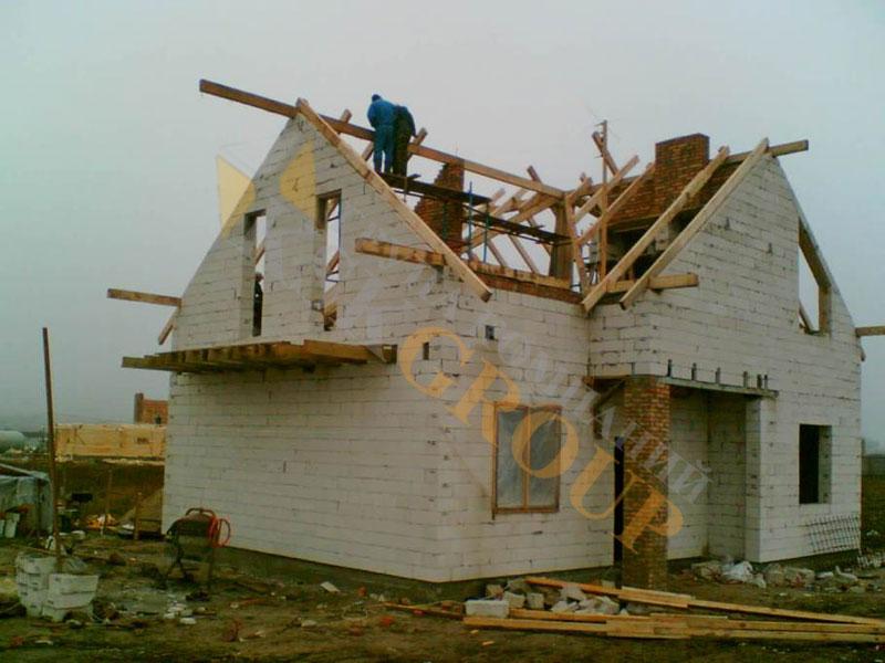 Крыша двухскатная своими руками с фронтонами фото и